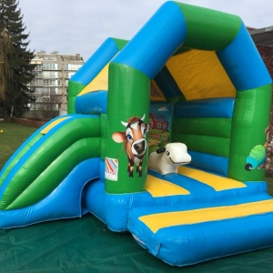 partylife-Midi Multifun Boerderij-springkasteel