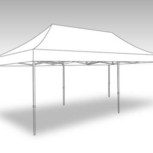 partylife-Tent – 4 x 8 – tent met zijzeilen-kleur wit